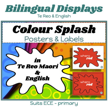 Maori-English Colour Splash Posters