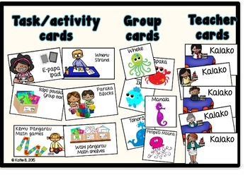 Maori \ English Math Rotation Task Cards EDITABLE