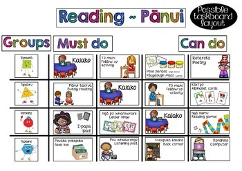 Maori \ English Reading Rotation Task Cards