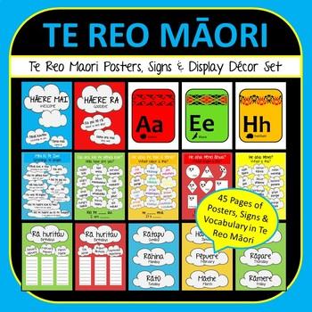 Maori Language Classroom Decor Set - Word & Phrase Posters, Birthday Chart, Alph