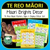 Maori Language Classroom Decor Set - Word Posters, Colours, Number, Days, Months