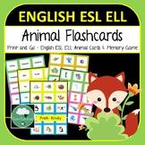 English ELL ESL Language Flashcards - Animals Bugs Sea Creatures Match Game