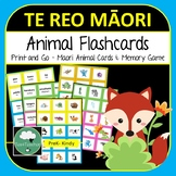 Te Reo Maori Language Flashcards & Memory Game - Animals Bugs Sea Creatures
