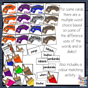 Maori Language Resource for New Zealand Classrooms - Colour Cards