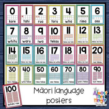 Maori (& Maori/English) Number 0-20 Posters for the New Zealand Classroom