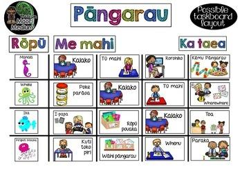 Maori Medium Math Rotation Task Cards Editable