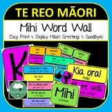 Maori Mihi Posters Word Wall Display Te Reo Maori Greetings Goodbyes Vocabulary