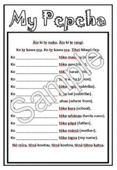 Maori Mihi Template