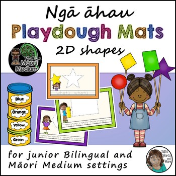 Maori Shapes Playdough Mats