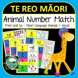 Maori Number Match Cards - Animals 1-20 for kids in Te Reo with Animal Names
