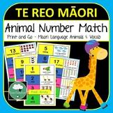 Te Reo Maori Number Match Game Animals 1-20