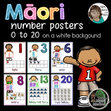 Maori Number Posters 0 to 20 on a white background