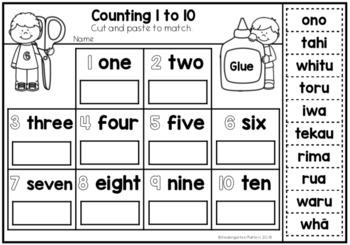 Maori Numbers 1 to 10