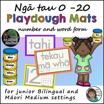Maori Numbers Playdough Mats