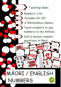 Maori Numbers + tens frames + English words + Maths + Number + Place Value