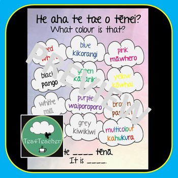 Maori Phrases and Vocabulary Posters - People, Places, Actions, Objects, Colours