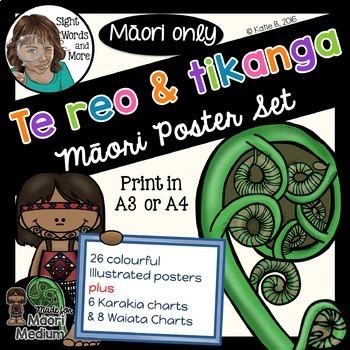 Te Reo Maori Posters for Maori Medium Classrooms