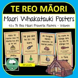Te Reo Maori Whakatauki Proverb Posters about Life & Learning Bilingual Woven