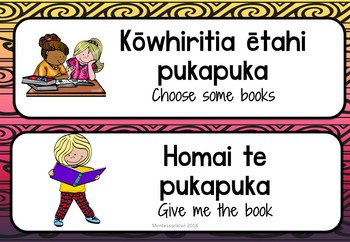 Maori Reading Phrases and statements