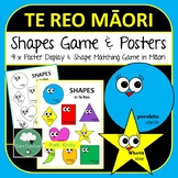 Maori Shapes Game and Poster - Recognise and Learn Te Reo Words for Shapes Kids