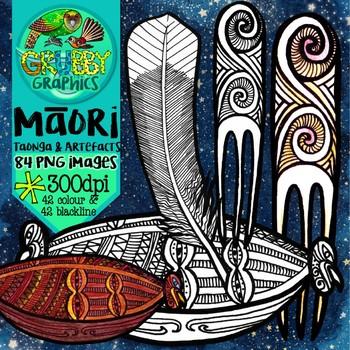 Maori Taonga & Artefacts Clip Art