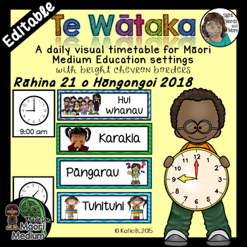 Maori Daily Visual Timetable EDITABLE