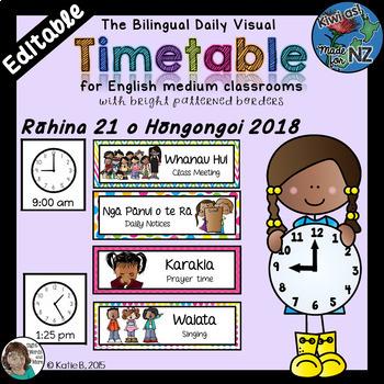 Maori and English Timetable