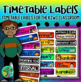 Timetable Labels {For daily class routines in NZ}