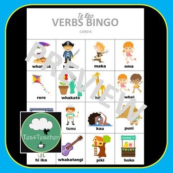 Te Reo Maori VERBS Bingo Game