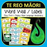 Maori Word Wall Labels SET 1 - Te Reo 250+ labels Food Animals Kitchen Insects +