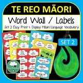 Maori Word Wall Labels SET 2 - Learn Te Reo 230+ labels Body People Transport +