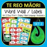 Te Reo Maori Word Wall Vocabulary 230+ Body People Transport Verbs Jobs Feelings