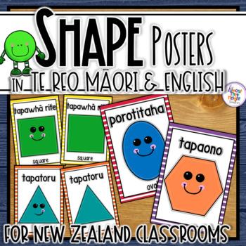 New Zealand Maori (and Maori/English) Shape Posters