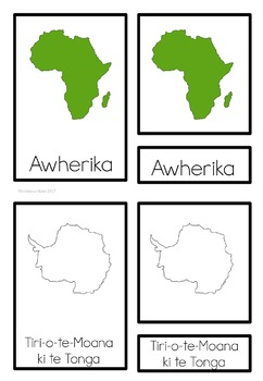 Maori continents (Montessori Inspired)