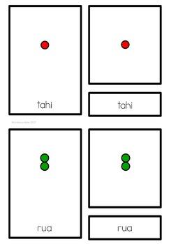 Maori numbers (Montessori Inspired)