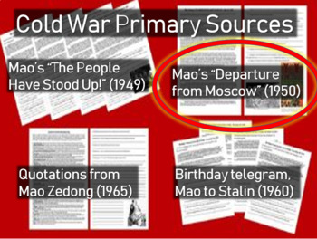 """Mao's """"Departure from Moscow"""" Speech: Cold War Primary Sou"""