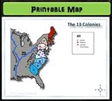 Map: 13 Colonies Economy