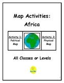 Map Activities: Africa