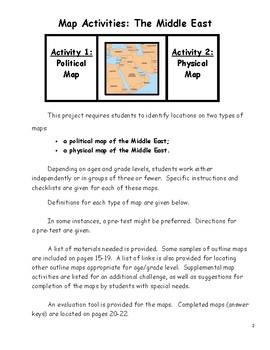 Middle East Map Activities.Map Activities Middle East By Math Fan Teachers Pay Teachers
