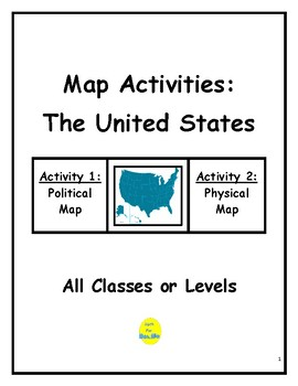 United States Map Activities.Map Activities The United States By Math Fan Teachers Pay Teachers