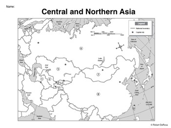 Central and Northern Asia   Mapping Activity by Robert's Resources