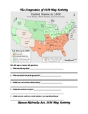 Map Activity--Compromise 1850 and K-N Act