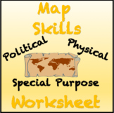 Engaging Map Skills Activity: Political, Physical and Spec