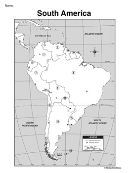 South America - Mapping Activity