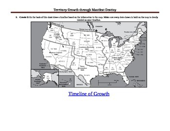 Map Analysis on Territory Growth During Manifest Destiny/Westward Expansion