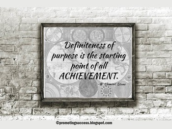 Inspirational Quote Poster for Classroom Decor PURPOSE & ACHIEVEMENT