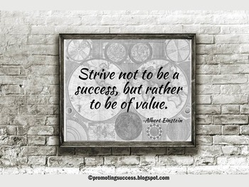 Albert Einstein Inspirational Quote about Success Science Poster Classroom Decor