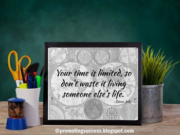 Inspirational Quote Classroom Rules Poster Back to School Decor Steve Jobs