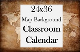 Classroom Calendar with Map Background