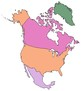 Map Clip Art: Countries Where Spanish is Spoken - Black Outline and Color